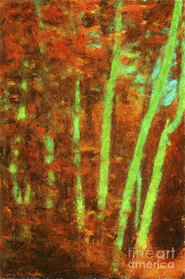 Digital Art - Impressionist Trees by Diane Macdonald