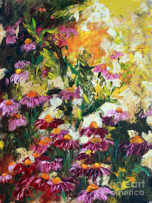 Painting - Impressionist Wild Purple Coneflowers by Ginette Callaway
