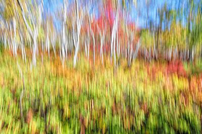 Chemical Glassware - Impressionistic Birch Grove by Karl Barth