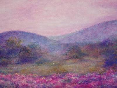 Impressionistic Foggy Summer Morning  Art Print