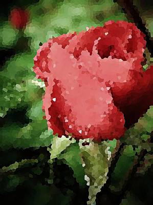 Dappled Light Photograph - Impressionistic Rose by Chris Berry
