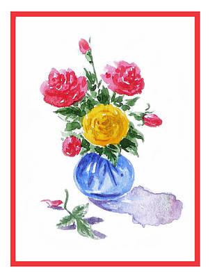 Roses Royalty-Free and Rights-Managed Images - Impressionistic Roses by Irina Sztukowski