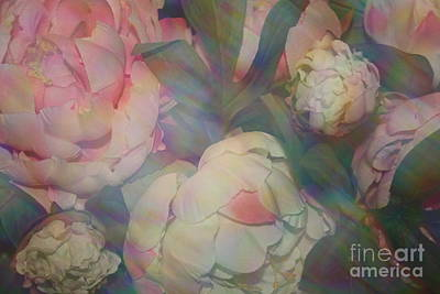 Art Print featuring the photograph Impressionistic Spring Bouquet by Dora Sofia Caputo Photographic Art and Design