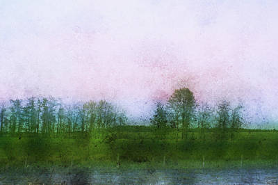 Impressionistic Style Of Trees Art Print by Roberta Murray