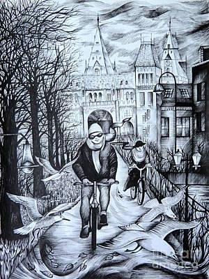 Impressions Of Amsterdam Art Print by Anna  Duyunova