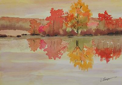Impressions Of Fall Art Print by Warren Thompson