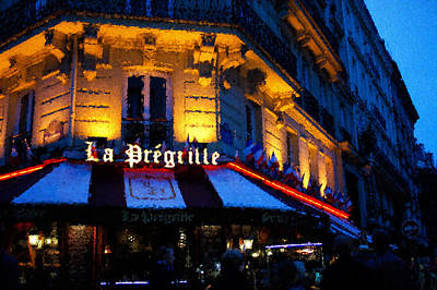 Digital Art - Impressions Of Paris - Latin Quarter Night Life by Georgia Mizuleva