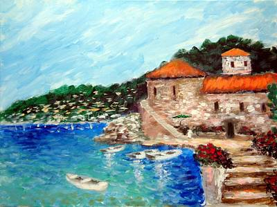 Painting - Impressions Of The Mediterranean by Larry Cirigliano