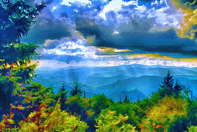 Painting - Impressions Of Waterrock Knob On The Blue Ridge Parkway by John Haldane