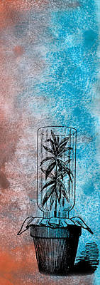 Blueish Mixed Media - Imprisoned Life by R Kyllo
