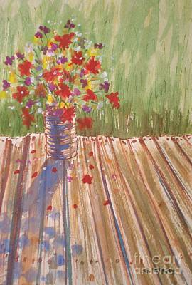 Art Print featuring the painting Impromptu Bouquet by Suzanne McKay
