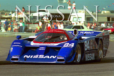 Photograph - Imsa Daytona Nissan 84 In 24hr Race by Martin Sullivan
