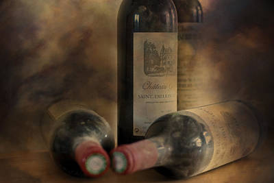 Chateau Photograph - In A Corner Of A Wine Cellar by Georgia Fowler