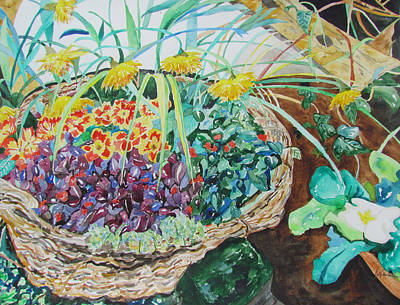 Painting - In A Country Garden by Esther Newman-Cohen