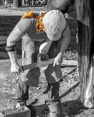 Working Cowboy Photograph - In A Day's Work by Julie Basile