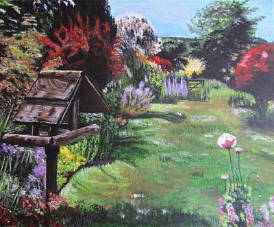 Painting - In A English Country Garden by Denise Hills