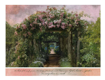 In A Garden Art Print by Robin-Lee Vieira