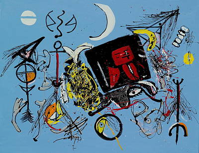 Painting - In A Jitney With Copernicus by Wayne Salvatore