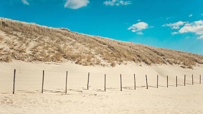 Dutch Summer Photograph - In A Line. Coastal Dunes In Holland by Jenny Rainbow