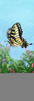Flutter Painting - In A Moment by Cara Bevan