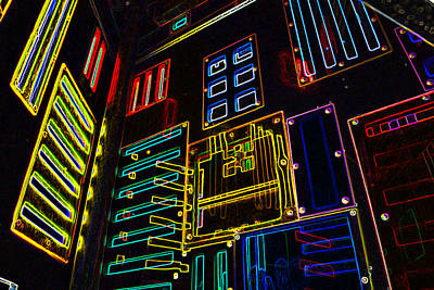 Digital Art - In A Neon-box by Tine Nordbred
