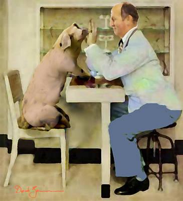 Digital Manipulation Painting - In A Pigs Eye by David Zimmerman