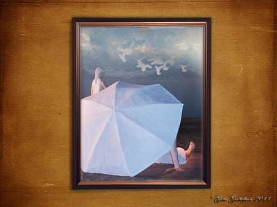 In A Scene In A Dream That's So Far Away Art Print by Gate Gustafson