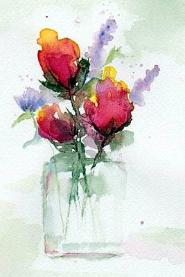 Painting - In A Vase by Anne Duke