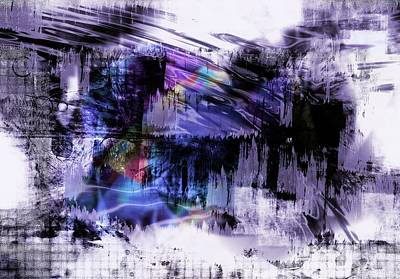 Digital Art - In A Violet Rhythm by Art Di
