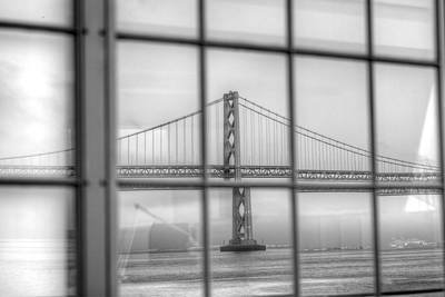 Photograph - in a window the Bay Bridge by SC Heffner