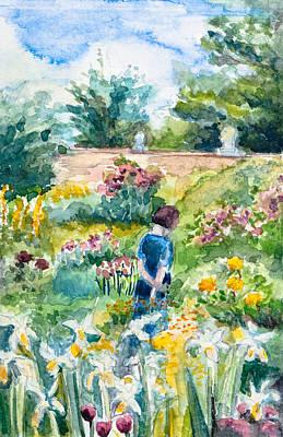 In An English Cottage Garden Art Print