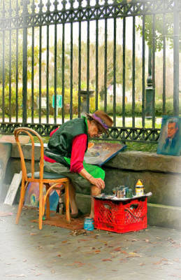 New Orleans Oil Photograph - In Another World Pastel by Steve Harrington