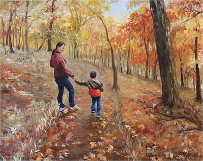 Painting - In Autumn by Ping Yan