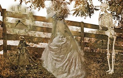 Human Bones Photograph - In Between by Betsy Knapp