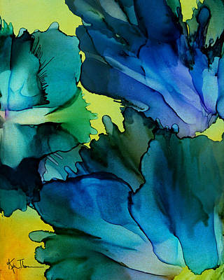 Alcohol Ink Wall Art - Painting - In Bloom by Kim Thompson