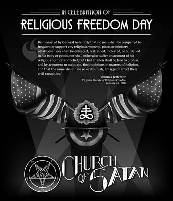 Baphomet Digital Art - In Celebration Of Religious Freedom Day by Church of Satan