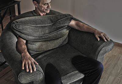 Manipulated Photograph - In Chair by Paul Geilfuss
