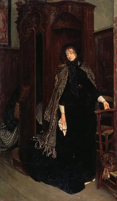 Confession Painting - In Church, 1865 by James Jacques Joseph Tissot