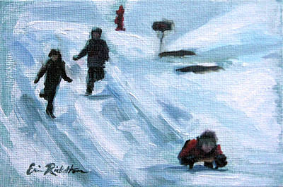 Painting - In Cold Pursuit by Erin Rickelton