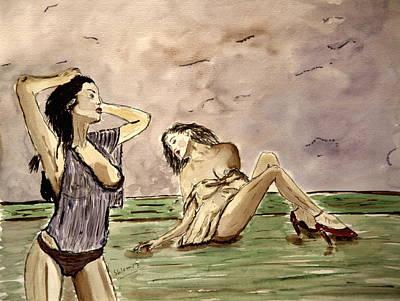 In Deep Passion Art Print by Shlomo Zangilevitch