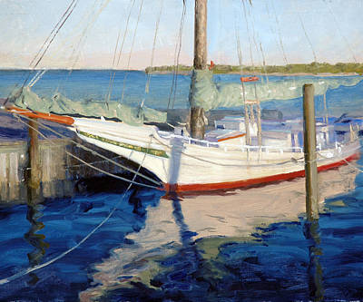 Chesapeake Bay Painting - In Dock by Armand Cabrera