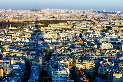 Paris Skyline Royalty-Free and Rights-Managed Images - In Eiffels Shadow by Kirk Strickland