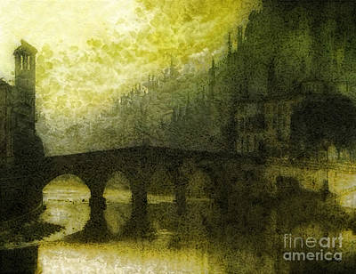 Mood Painting - In Fair Verona by Mo T