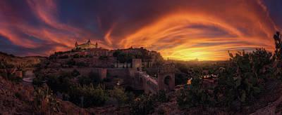 Sundown Photograph - In Flames by Iv?n Ferrero