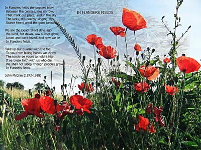 Rememberance Digital Art - In Flanders Fields by Nick Eagles