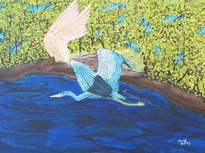 Art Print featuring the painting In Flight by Cheryl Bailey