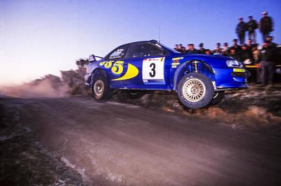 Subaru Rally Photograph - In Flight by Jose Bispo