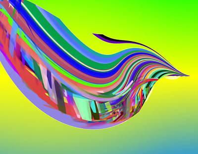 Digital Art - In Flight With Sbux by Stephen Coenen