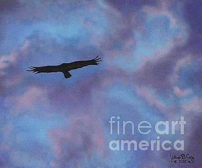 Yvonne Cacy Painting - In Flight by Yvonne Cacy