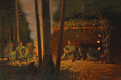 Winslow Digital Art - In Front Of Yorktown by Winslow Homer